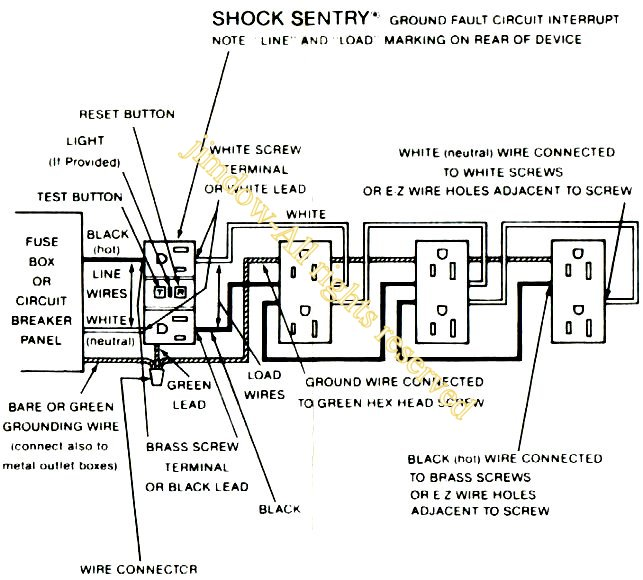 Eaglegfr besides Wiringoutlets as well How Do I Properly Wire Gfci Outlets In Parallel moreover Multiwire Branch Circuit With Gfci furthermore How Do I Wire A Gfci  bination Light Switch When Power Enters At The Light. on gfci receptacle wiring diagram