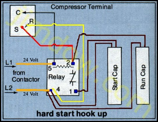 on ac start capacitor wiring diagram