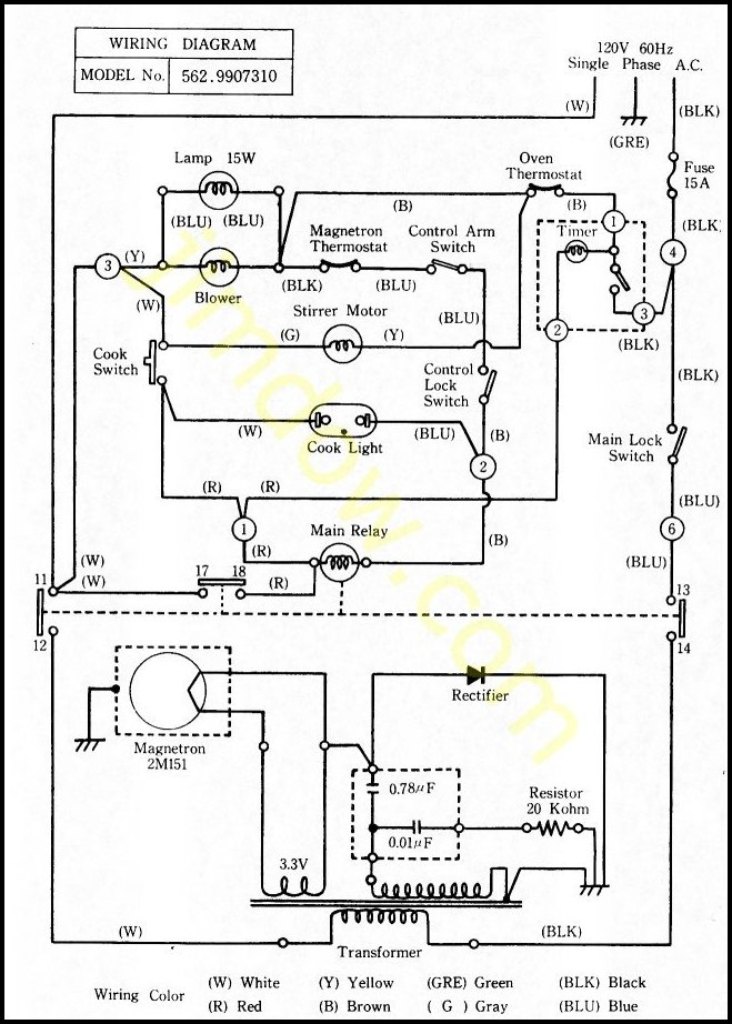 Microwave Oven Wiring Diagram on ohms law schematic diagram