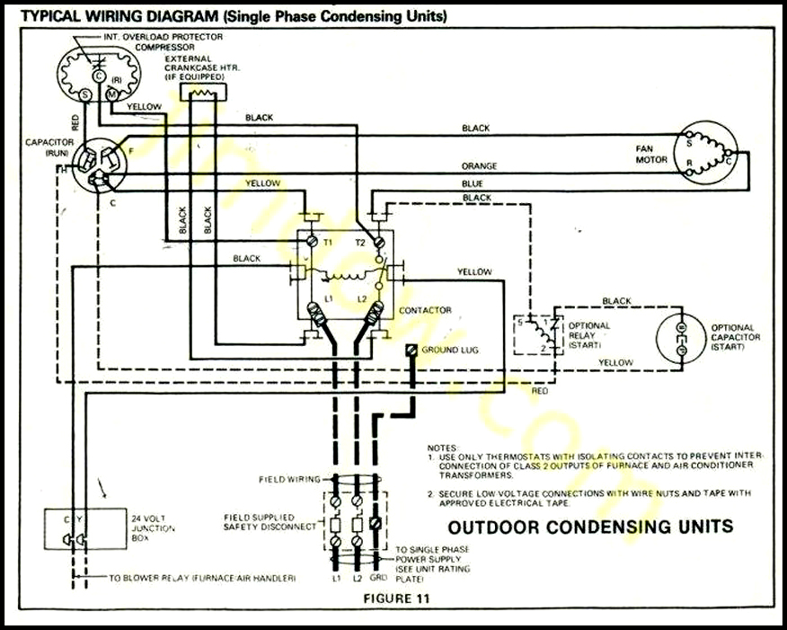 Air Conditioner Outdoor Unit Wiring Diagram | Repair Manual on